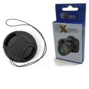 Ex-Pro 52mm Snap On Lens Cap with Cord for SLR Camera
