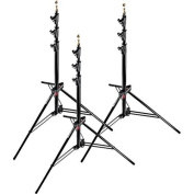Manfrotto Master Stands, Air Cushioned Aluminium - Black, Pack of 3