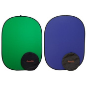 PhotoSEL BD113GU Reversible Chroma Key Green/Blue Collapsible Background 1.5m x 2m