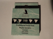 500 Clear Traditional Acid Free Photo Corners in 2 Handy Dispenser Boxes