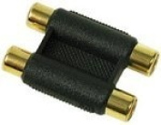 Euronetwork RCA phono twin coupler, 2xF to 2xF, Gold