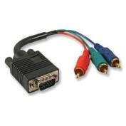 Ex-Pro® Pro Gold Series 3 Phono RGB YUV Component to VGA 15 Pin Plug Lead Cable - 1m 100cm