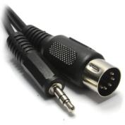 5 Pin Din MIDI Plug To 3.5mm Jack Stereo Plug Audio Cable 1.5m