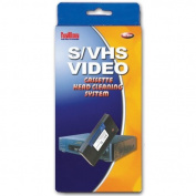 VHS & SVHS video tape head cassette cleaning system