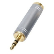 Ex-Pro® Professional Quality Gold Plated STEREO Audio Adaptor 6.35mm (1/4 INCH) Jack Socket to 3.5mm Jack Plug - for Headphones