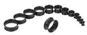 11 Piece Black Ear Plug Tunnel Acrylic Set 3mm to 20mm Double Flare Stretcher Expanders Ear Taper