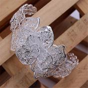 Lingstar(TM) New Fashion Jewellery Classic Knot 925 New Gift Women Lady solid Silver Bracelet Bangle YDHZ59