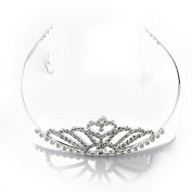 Silver Plated Bridal Hairband Headband Tiara + 2 Combs HOT