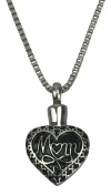 Mother Heart Urn Pendant - Memorial Ash Keepsake - Cremation Jewellery