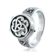 Bling Jewellery Sterling Silver Triquetra Celtic Knot Poison Locket Ring