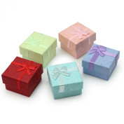 Hot 5Pcs Ring Earring Jewellery Square Gift Storage Case Boxes Paper Cardboard