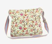Cartoon owl print Canvas shoulder bag cross body messenger cloth bag