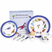 7 Piece Children's Melamine Gift Set -DINOSAURS