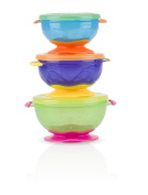 Nuby Stackable Suction Bowl with Lid