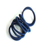 10 Navy Blue Snag Free Hair Elastics IN9569