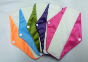 Cheeky Mama Bamboo Minkee Cloth Washable Sanitary Pads Towels - 5 pack