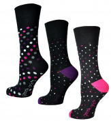 Womens Socks, Gentle grip for comfort, 3 Pairs 4-8 UK, 37-42 EU, Light Hold honeycomb top, ideal elastic free Socks