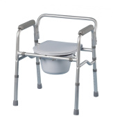 Patterson Medical Folding Commode Chair and Toilet Surround