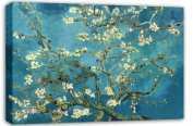 VAN GOGH BLOSSOMING ALMOND TREE FLORAL CANVAS ART MOUNTED READY TO HANG 80cm X 50cm