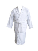 Large White Bath Robe, Personalised with name