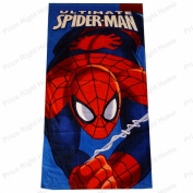 MARVEL SPIDER-MAN TOWEL BEACH BATH TOWEL WEBSLINGER CHILDRENS BOYS 100% OFFICIAL ITEM