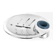 Arian Leaf Large Round Soap Dish in Chrome for 25mm Shower Riser Rail*