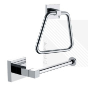 Arian Pro - Bathroom Accessories - Toilet Roll Holder and Towel Ring