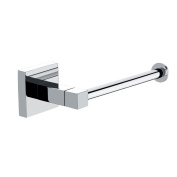 Square Wall Mounted Toilet Roll Holder with Polished Chrome Finish