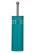 Premier Housewares Square Design Toilet Brush and Holder - 38 x 10 x 10 cm - Turquoise