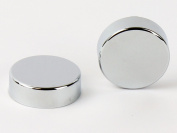 Two Chrome Cover Cap for Towel Rail Radiator for blanking plug and bleeding valve