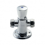 Deva NCT002 Exposed Self Closing Thermostatic Shower Valve with Chrome Finish
