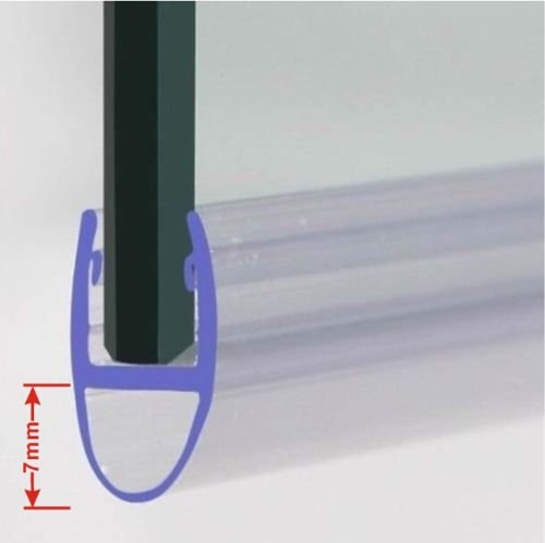 Rubber Plastic Bath Shower Screen Seal Strip For 4 6mm Glass Door