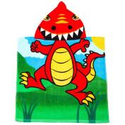Mini Poncho Buddy 'Davosaurus' Dinosaur Childs UPF 50+ Hooded Towel Age 1-3 years