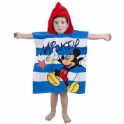 Mickey Mouse Star hooded poncho towel
