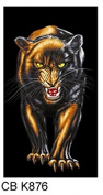 PANTHER CAT ANIMAL PRINT TOWEL BEACH BATH TOWEL CHILDRENS OR ADULTS BOYS / GIRLS BLACK GREY GREAT GIFT IDEAS