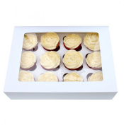 Box for 12 Cupcakes with Window and Tray by Turtle Products