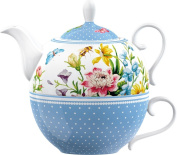 Creative Tops Katie Alice English Garden Porcelain Tea for One Teapot and Cup, Multi-Colour