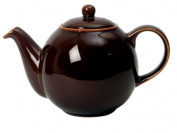 London Pottery 6 Cup Globe Teapot Rockingham Brown