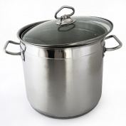 All-purpose cooking pot XL stockpot stainless steel 10l