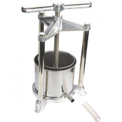 NEW 1.5 Litre STAINLESS FRUIT WINE CHEESE HERB KITCHEN PRESS