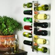 Wine Bar Contemporary Wine Rack 12 Bottle | bar@drinkstuff Metal Wall Mounted Wine Rack, Wine Bottle Rack, Horizontal Wine Bottle Rack