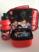 One Direction Lunch Bag with Box + Bottle set in Red