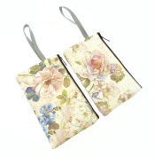 Floral Design Make Up Bag With Zip Fastening And Carry Handle- YOU WILL RECEIVE ONE BAG AT RANDOM FROM THE DESIGNS SHOWN.