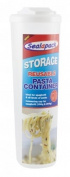 2 x Reusable Plastic Pasta Spaghetti Storage Container With Measuring Cap