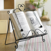French Style Antique Brown Wrought Iron Recipe Cook Book Holder Stand - An Ideal Gift For A Cook Or A Baker - W29 x H34.5 x D7.5cm
