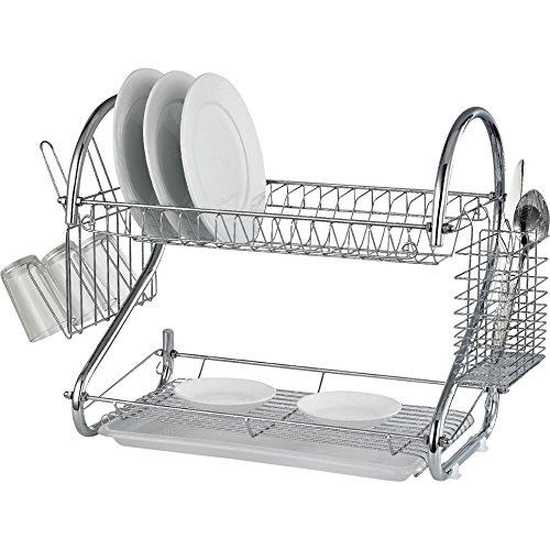 DNY© 2 TIER CHROME PLATE DISH RACK DRAINER DRIP TRAY PLATES CUTLERY CUP HOLDER DRYER WASH UP CUP GLASS by DNY - Shop Online for Homeware in Australia  sc 1 st  Fishpond & DNY© 2 TIER CHROME PLATE DISH RACK DRAINER DRIP TRAY PLATES CUTLERY ...