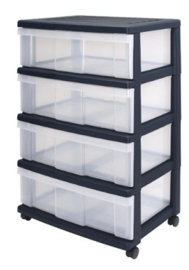Wide Drawers Storage Drawers With 4 Drawers Plastic