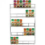 5 Tier Chrome Spice Rack. Up To 40 Jars, Easily Attachable