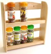 Wooden 2 Tier Spice Rack Holds upto 10 Jars