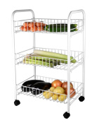 3 Rack Vegetable Rack White